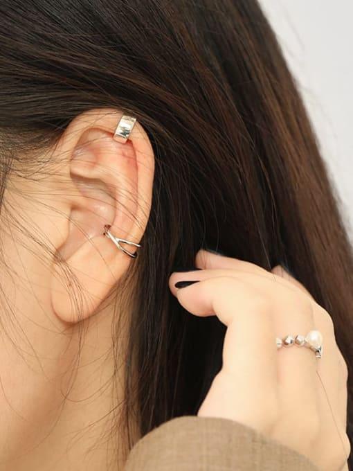 Dak Phoenix 925 Sterling Silver smooth Irregular Minimalist Clip Earring [Single] 3